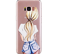 cheap -Case For Samsung Galaxy S8 Plus S8 Pattern Back Cover Sexy Lady Soft TPU for S8 Plus S8 S7 edge S7 S6 edge S6