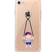 Caso para el iphone 7 6 que juega con el iphone ultrafino suave 7 de la cubierta del caso de la contraportada del tpu de la manzana más 6