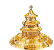 Недорогие -3D пазлы Пазлы Металлические пазлы Наборы для моделирования Игрушки Знаменитое здание Китайская архитектура Архитектура 3D Храм Неба