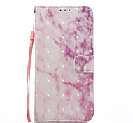 For Samsung Galaxy S8 S8 Plus Case Cover Pink Marble Pattern 3D Painted Card Stent Wallet Phone Case For Galaxy S7 S7 Edge S6 S6 Edge S5 S4 S3 S2
