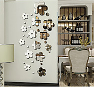 Specular Adornment Wall Stickers Beautiful Flowers