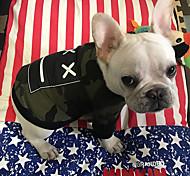 Собака Толстовка Одежда для собак Дышащий Стиль С логотипом На каждый день Высокое качество Мода геометрический камуфляж Красный Камуфляж