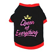 Cat Dog Shirt / T-Shirt Vest Dog Clothes Party Casual/Daily Tiaras & Crowns Black
