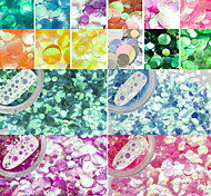 12Bottles/Set Colorful Sparkling Semi-transparent Charm Glitter Paillette Fashion Mermaid Nail Art Shining Sequins DIY Beauty Decoration PR1-12