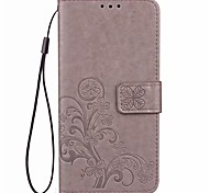 For Sony Xperia XZ Premium XA1Case Card Holder Wallet with Stand Flip Embossed Full Body Case Solid Color Flower Hard PU Leather For Sony L1 XA1 Ultra