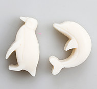 cheap -Dolphin And Penguin Fondant Mold DIY Silicone Soap Candle Mold Handmade Soap Salt Carved DIY Silicone Food Grade Silicone Mold