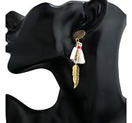cheap -Women's Earring Back Drop Earrings Hoop Earrings Dangling Style Pendant Tassel Resin Alloy Geometric Irregular Jewelry ForBusiness Stage
