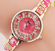 Women's Bracelet Watch Digital Metal Band Black White Blue Red Brown Pink Purple Yellow Rose
