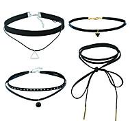 Недорогие -Жен. Набор украшений Ожерелья с подвесками Черный Choker Классический Ленты Euramerican День рождения На каждый день Пластик Сплав