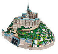 cheap -3D Puzzles Paper Model Model Building Kit Square Famous buildings Architecture DIY Hard Card Paper Classic All Ages