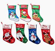 Рождественский чулок Санта-Клаус носки орнамент конфеты мешок рождественская елка подвеска украшение поставок подарок (стиль случайный)