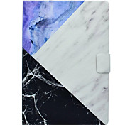 Caso para apple ipad pro 10.5 9.7 '' portador de cartão de capa com padrão de stand de corpo inteiro mármore hard pu couro ipad (2017) 2 3