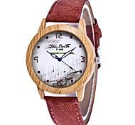 Mulheres Relógio de Moda Relógio de Pulso Único Criativo relógio Relógio Casual Chinês Quartzo Impermeável Couro Tecido BandaCasual