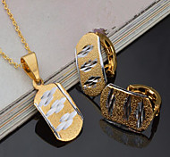 cheap -Women's Gold Plated Jewelry Set - Vintage / Euramerican Square Gold Bridal Jewelry Sets For Party / Event / Party / Dailywear