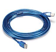 USB 2.0 Cable adaptador, USB 2.0 to USB 2.0 Cable adaptador Macho - Macho 5,0 m (16 pies)