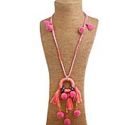 Жен. Ожерелья-бархатки Ожерелья с подвесками Заявление ожерелья Одинарная цепочка Геометрической формы Резина Смешанные материалы Сплав