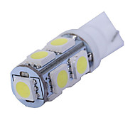 1.5w dc12v t10 5led smd5050 задние фонари свет двери номерной знак светлый белый синий ледяной буле красный розовый желтый зеленый 10шт