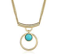 Жен. Ожерелья-бархатки Ожерелья с подвесками Заявление ожерелья Геометрической формы Металлический сплав РезинаБазовый дизайн В виде
