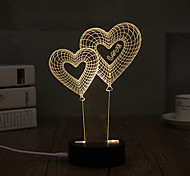 1 Set, Popular Home Acrylic 3D Night Light LED Table Lamp USB Mood Lamp Gifts, love