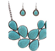cheap -Women's Jewelry Set Drop Earrings Pendant Necklaces Turquoise Personalized Unique Design Dangling Style Pendant Classic Vintage Bohemian