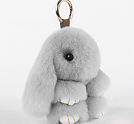 cheap -Bag / Phone / Keychain Charm Cartoon Toy Rex Rabbit Fur Cell Phone Charms