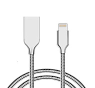 abordables -USB 2.0 Normal Cable Para iPhone iPad cm Aluminio