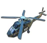 Недорогие -3D пазлы Бумажная модель Наборы для моделирования Оригами Вертолет Игрушки Квадратный Летательный аппарат Вертолет 3D Своими руками