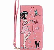 Case For LG K10 (2017) K8 (2017) Case Cover Card Holder Wallet with Stand Glow in the Dark Flip Pattern Case Sexy Lady Hard PU Leather k3(2017) k8 k7