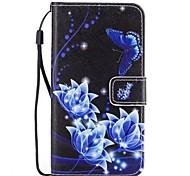 Чехол для галактики samsung a5 2017 a3 2017 синяя роза pu кожаный флип-чехол с магнитной защелкой и слотом для карт