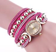 Жен. Модные часы Часы-браслет Китайский Кварцевый Кожа Группа Элегантные часы Черный Белый Синий Красный Коричневый Розовый Фиолетовый