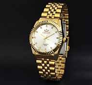 cheap -Men's Wrist Watch Casual Watch Stainless Steel Band Charm Gold