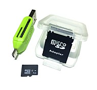 Недорогие -4gb microsdhc tf карта памяти с 2 в 1 usb otg card reader micro usb otg