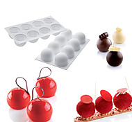 cheap -1PCS Silicone Round Ball Shape Non-Stick Truffles Chocolate Mold For Fondant Soap Jelly Pudding Candy Mould Cake Decorating Tool