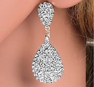 cheap -Women's Drop Rhinestone Silver Plated Drop Earrings - Fashion Gold / Silver Earrings For Wedding / Party / Daily