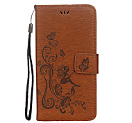 Case For Huawei P10 P10 Lite Case Cover Butterfly Girl Pattern Embossed Glossy PU Material Card Stent Phone Case For Huawei P8 Lite (2017) Y5 II