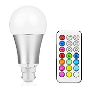 cheap -12W 700-800lm LED Smart Bulbs A60(A19) 15 LED Beads Integrate LED Dimmable Decorative Remote-Controlled RGB+White RGB+Warm 85-265V