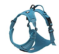 Truelove Reflective Nylon large pet Dog Harness All Weather Padded Adjustable Safety Vehicular leads for dogs pet