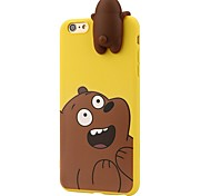 Case For iPhone 7 Plus 7 3D Cartoon Animals Cute We Bare Bears Soft Silicone Case Cover Skin 6 Plus 6