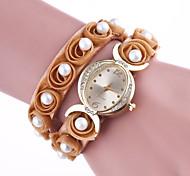 Жен. Модные часы Уникальный творческий часы Китайский Кварцевый Кожа Группа Элегантные часы Черный Белый Синий Красный Коричневый Розовый