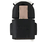 Robot Shape Android Micro USB To USB 2.0 Converter OTG Adapter