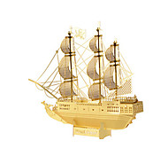 Недорогие -Пазлы Металлические пазлы Танк Летательный аппарат Корабль 3D Своими руками Предметы интерьера Нержавеющая сталь Металл Пираты 6 лет и