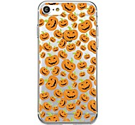 For iPhone 7Plus Case Cover Transparent Pattern Back Cover Case Tile Halloween Smiling face Soft TPU for iPhone 7 6sPlus 6plus 6s 6  5 5s SE