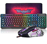 cheap -Wired Mouse keyboard combo with Mouse Pad DPI Adjustable Backlit USB Port Gaming keyboard
