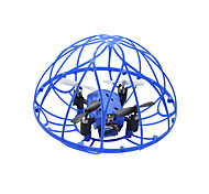 TKKJ M73 Blue 2.4GHz 4-Channel 3D Flip Climb RC Quadcopter Drone w 6-Axis Gyro with Unique Protective Cover RTF
