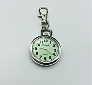 Men's Women's Keychain Watch Lapel Watch Quartz Alloy Band Silver