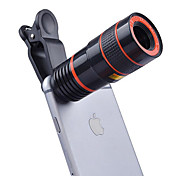 DONEWS 8X Long Focal Telescope Lens Smartphone Camera Lenses 0.63X Wide Angle  15X Macro fish-eye lens  for iphone Huawei xiaomi samsung