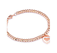 Korean version of fashion love bracelet stainless steel rose gold women's bracelet anti-allergy accessories