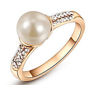 cheap -Women's Luxury Crystal / Imitation Pearl Crystal / Imitation Pearl / Alloy Infinity Band Ring - Round / Infinity Personalized / Luxury /