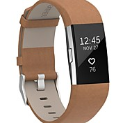cheap -For Fitbit Charge 2 Bands LeatherHenoda Replacement Strap for Fitbit Charge 2-brown