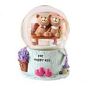 Bolas Caixa de música Decoração Brinquedos Redonda Urso Resina Peças Infantil Aniversário Dom